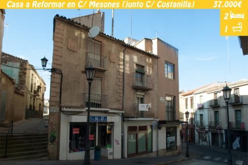 Casa a reformar en el centro de Zamora. Ideal para crear un moderno loft y vivir en el centro o alquilarlo