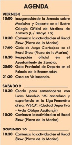 Agenda Copa Reina