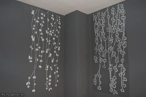 Formas de pintar una o varias paredes con la plantilla.