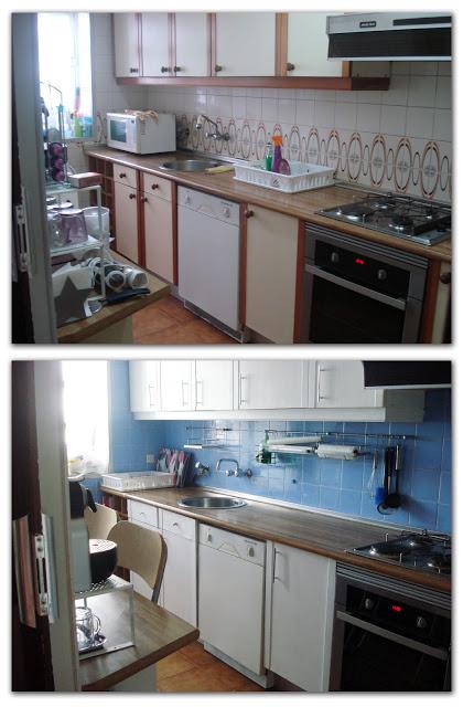 Parte ii renovar los muebles de la cocina vivirenzamora - Forrar azulejos cocina ...
