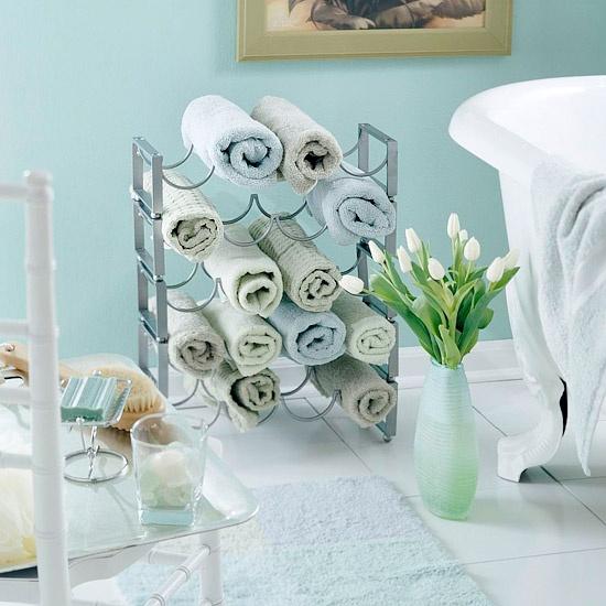 Ideas Toalleros Baño:Ideas para colocar las toallas de baño