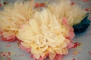 Flores de tul para decorar
